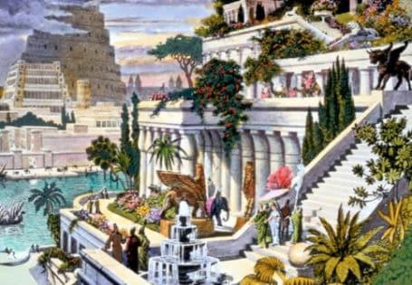 7 maravilhas do mundo Jardins Suspensos da Babilonia