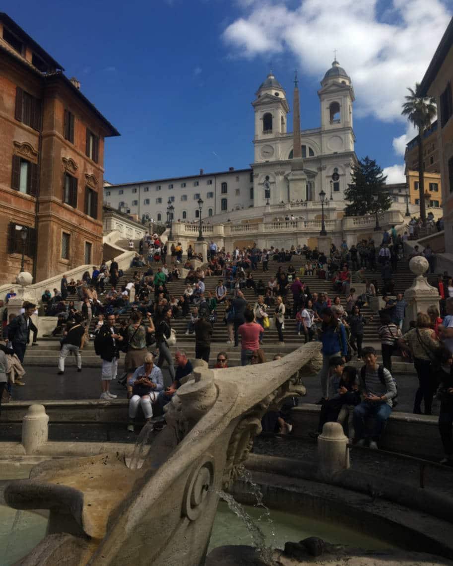 Praca de Espanha em Roma