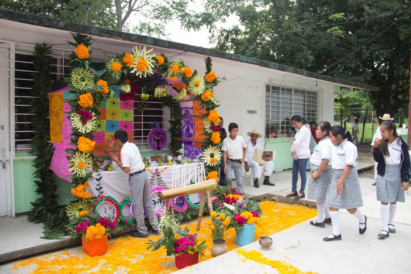 Altar de dia dos mortos no México