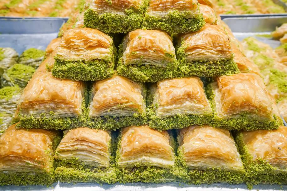 comida turca baklava