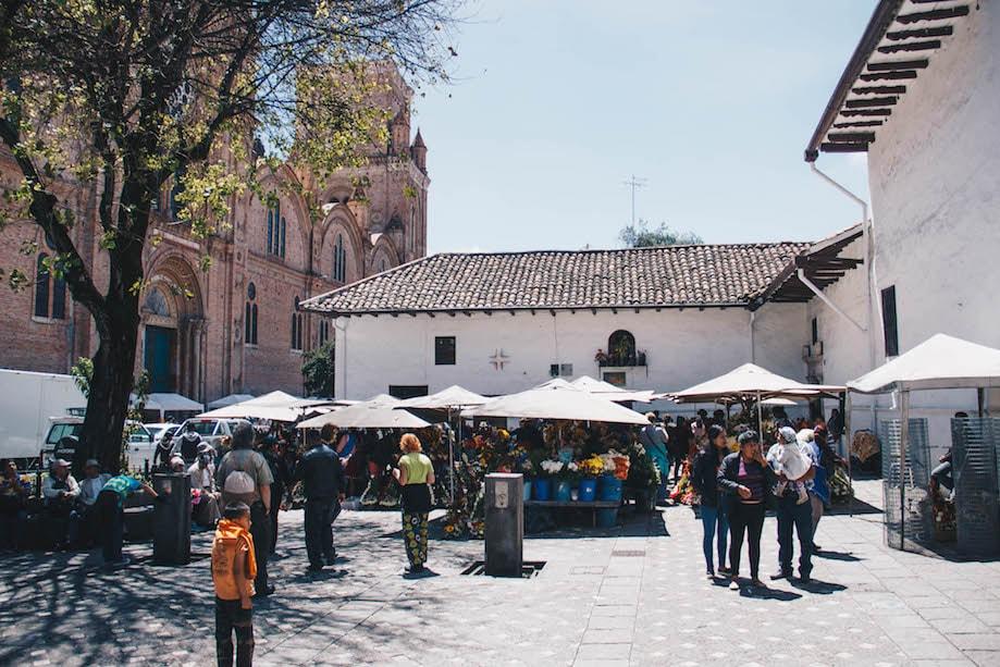 O que fazer em Cuenca - Praça das Flores