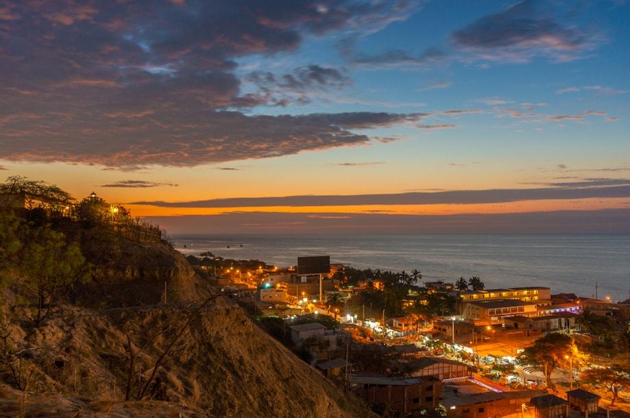 Vista de Máncora, no Peru