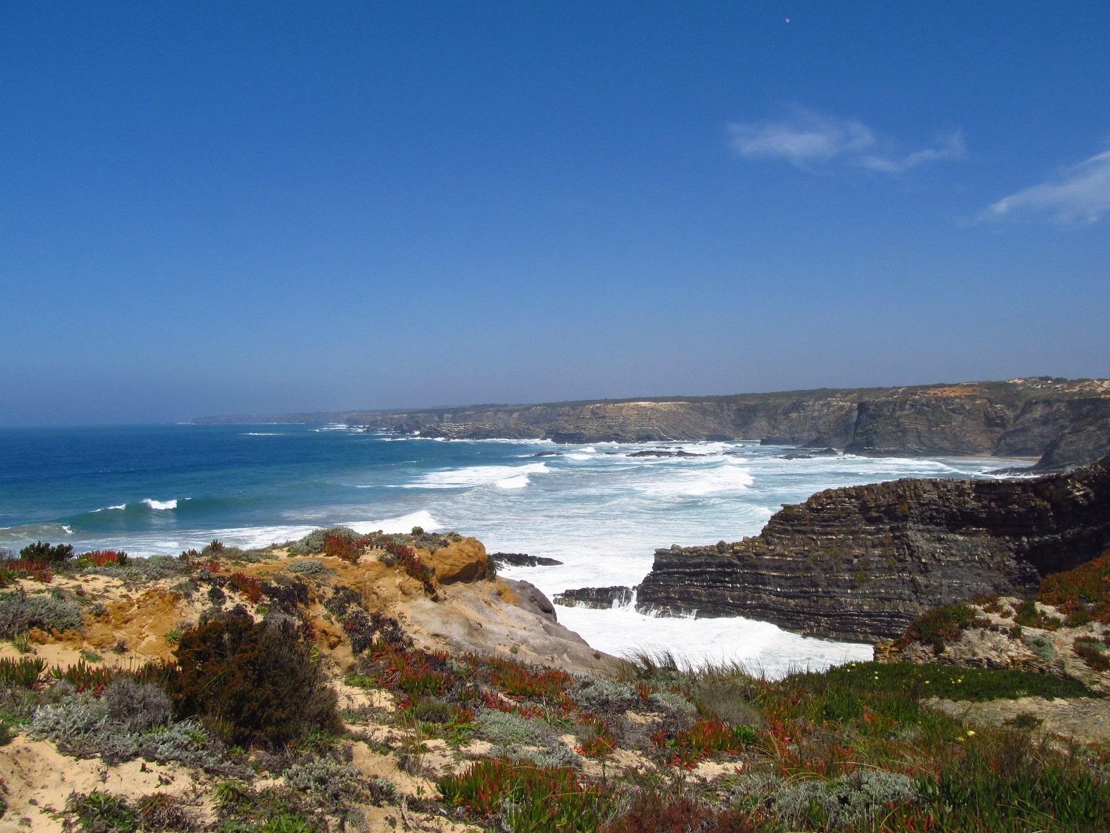 Litoral do Alentejo em Portugal Praia de Zambujeira do Mar