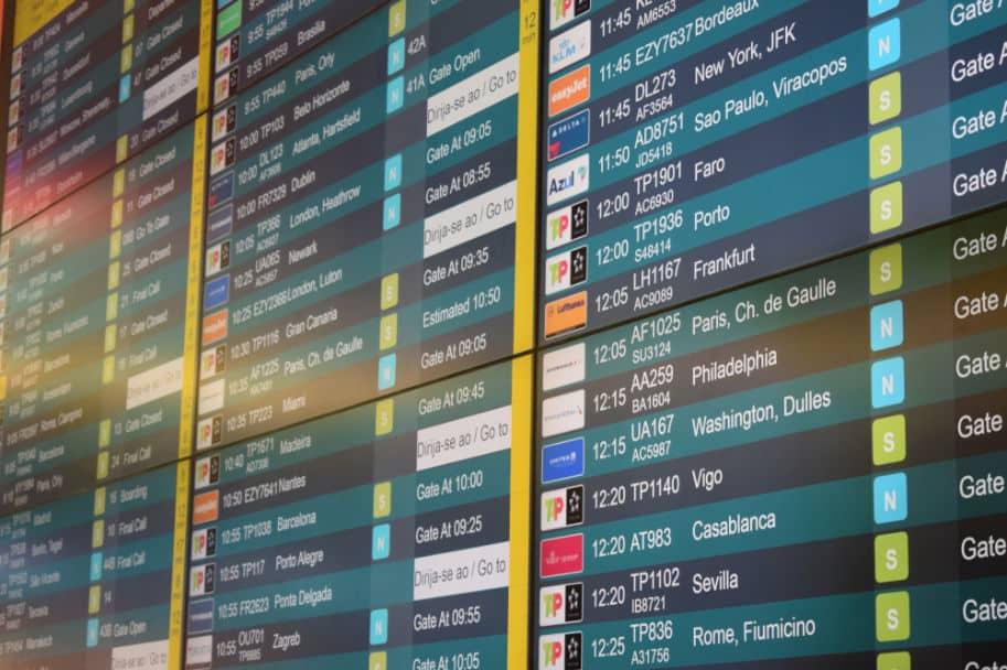 voos aeroporto de lisboa embarque