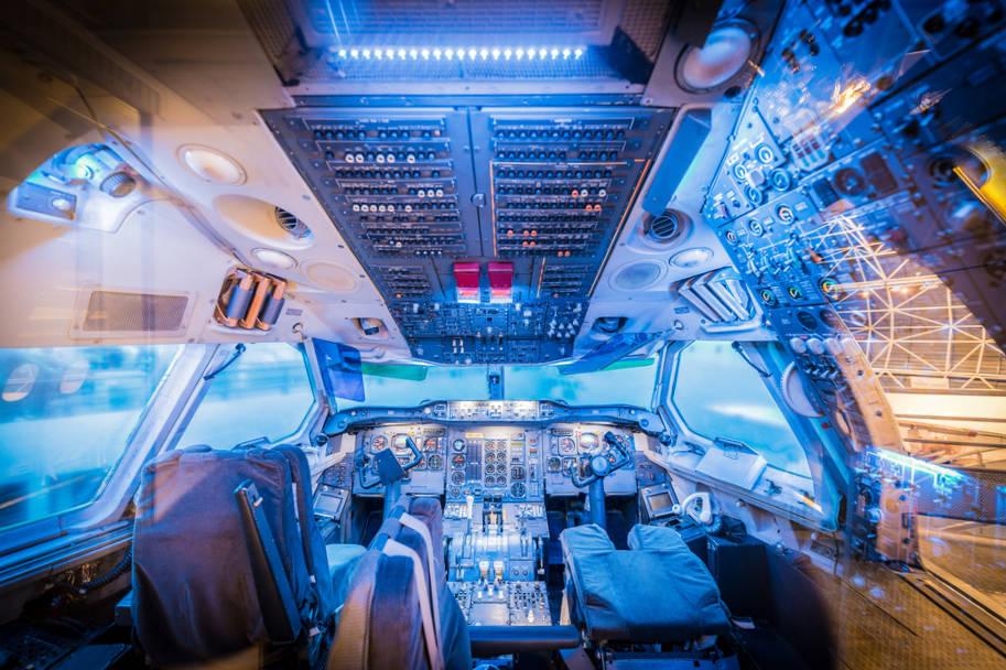 cabine do concorde museu aeroscopia
