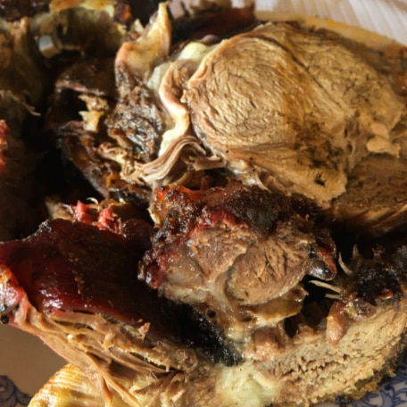 carne de cordeiro assada