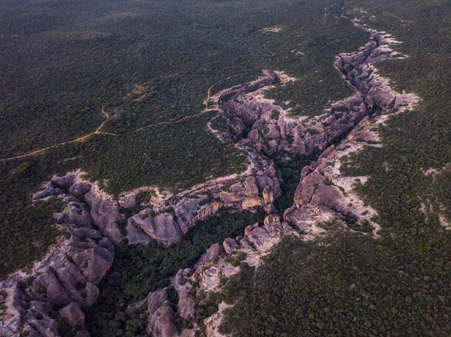 vista aérea serra da capivara