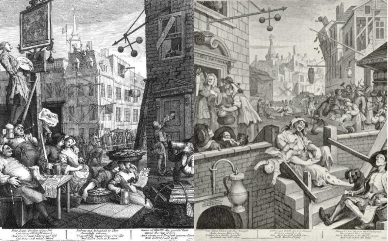 Beer Street e Gin Lane