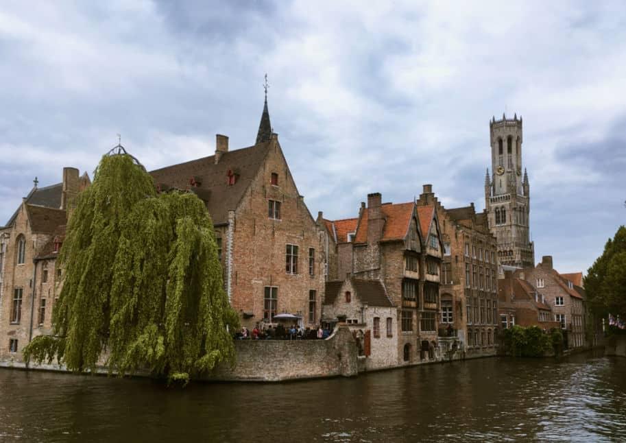 Bruges Belgica vista canal