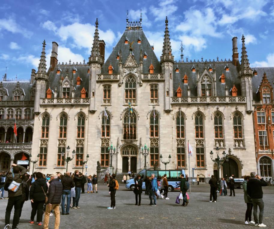 Praca markt em bruges na belgica