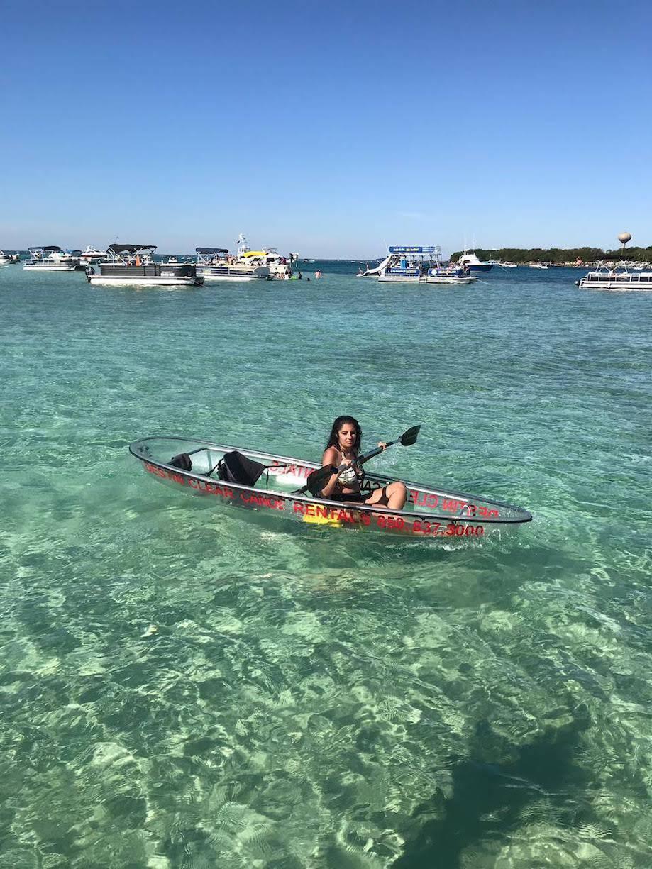 Caiaque na Crab Island - Emerald Coast, Florida