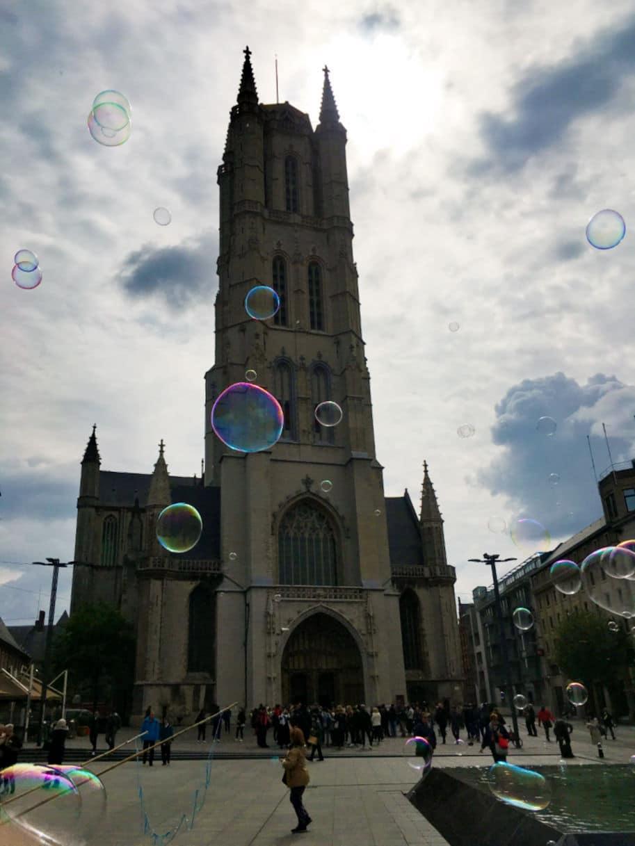 Catedral de St Bavo em Gent mystic lamb