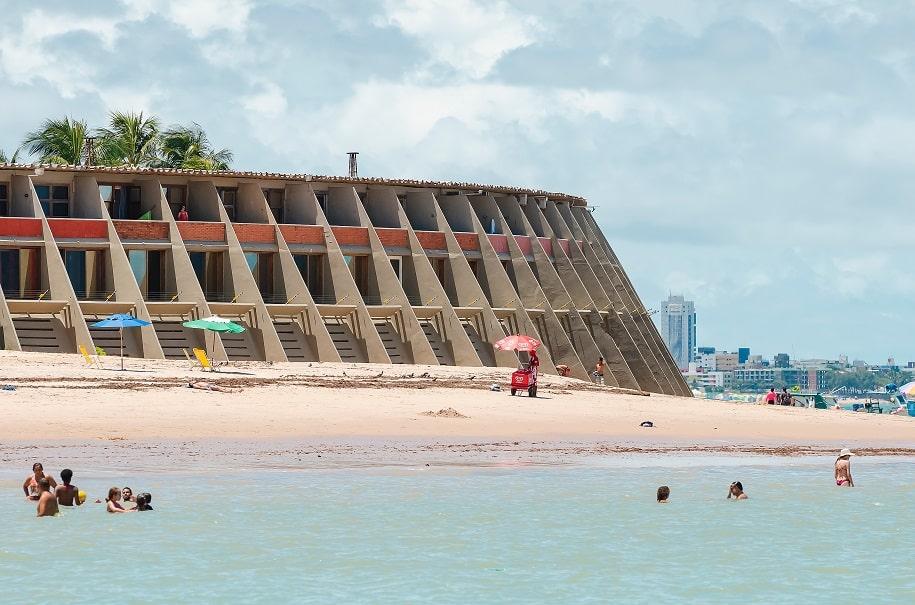 hotel na frente da praia em João Pessoa