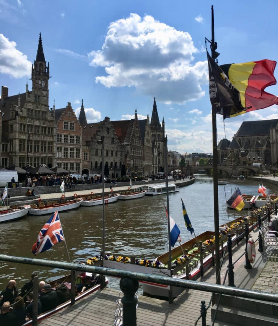 Ponte Grasbug em Gent Belgica