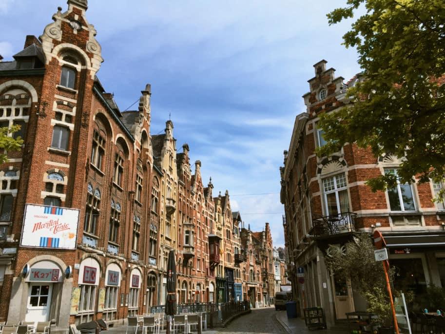 Rua do centro de Gent Belgica