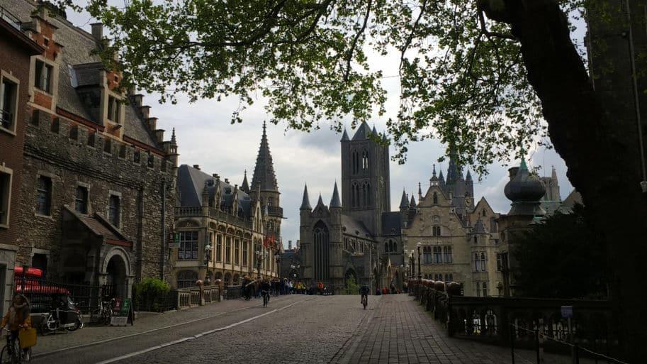 Vista de Gent na Belgica o que fazer lá