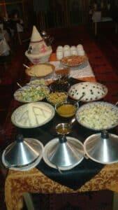 jantar típico marroquino