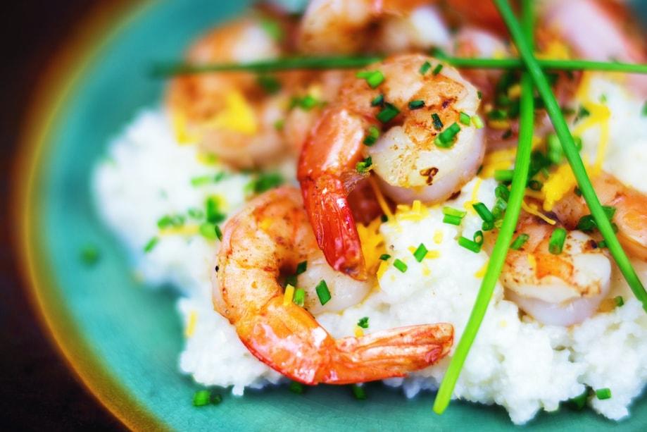 Shrimp and Grits - Comida do sul dos EUA
