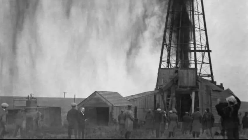 poço de petróleo em território osage, estados unidos
