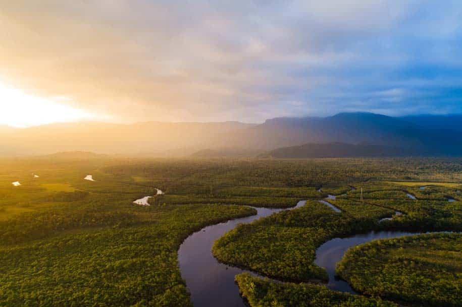 vista área da amazonia