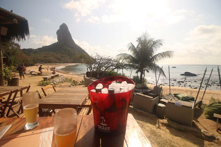 vista do bar do meio, para a praia da conceição