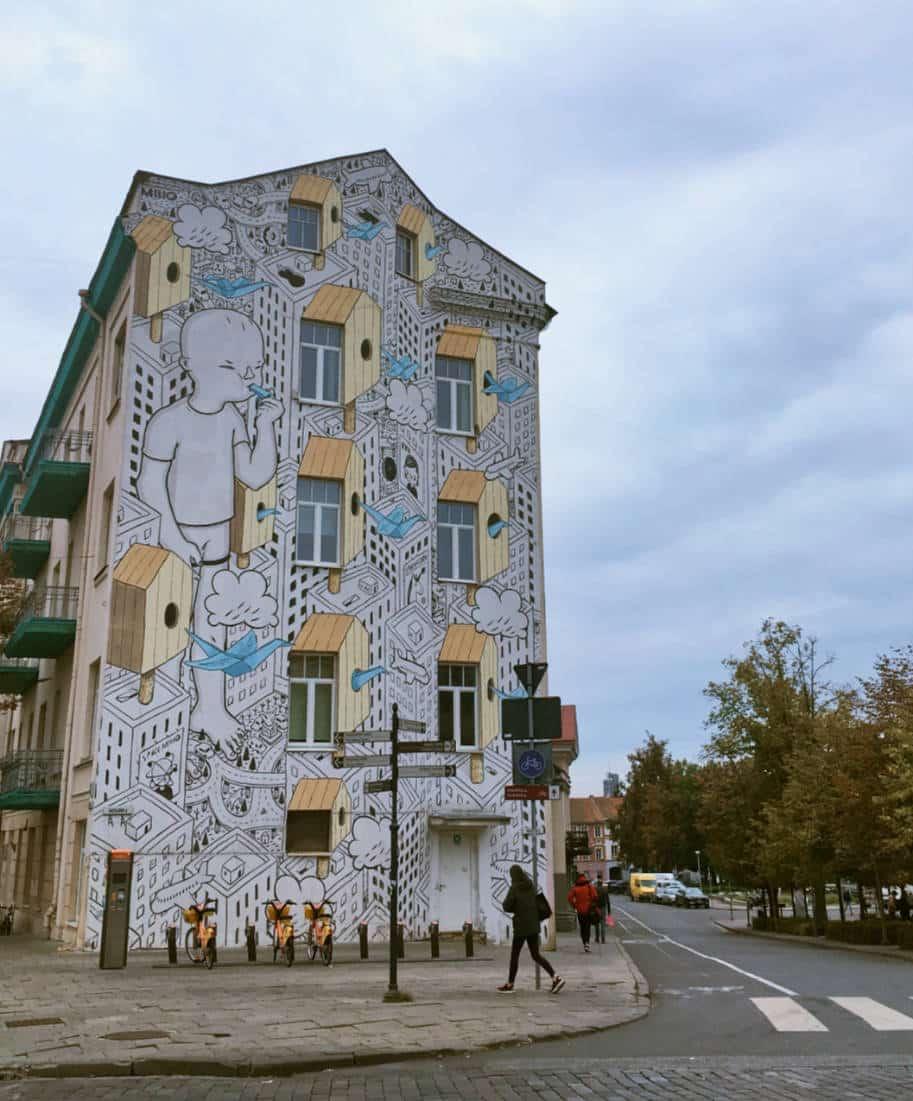 grafite do milo em vilnius lituania o que fazer