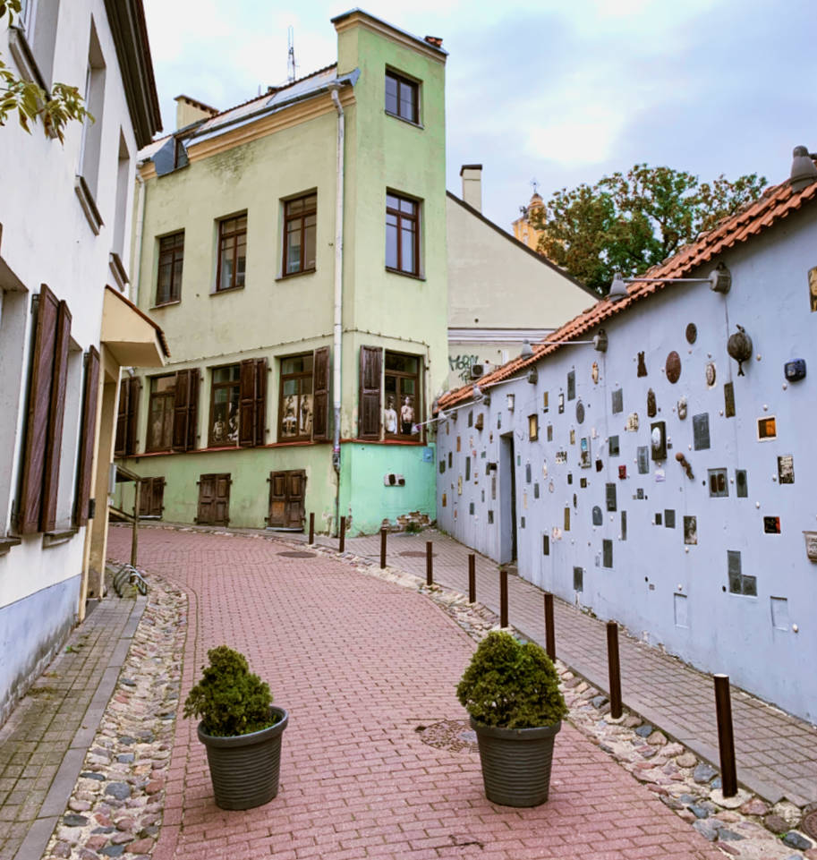 literary street vilnius lituania