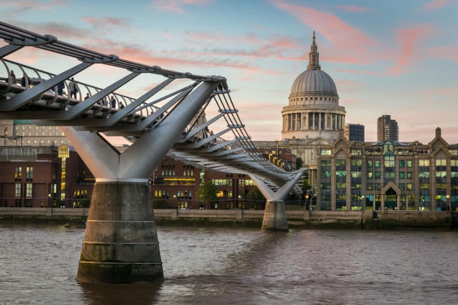 millennium bridge locacoes harry potter em londres