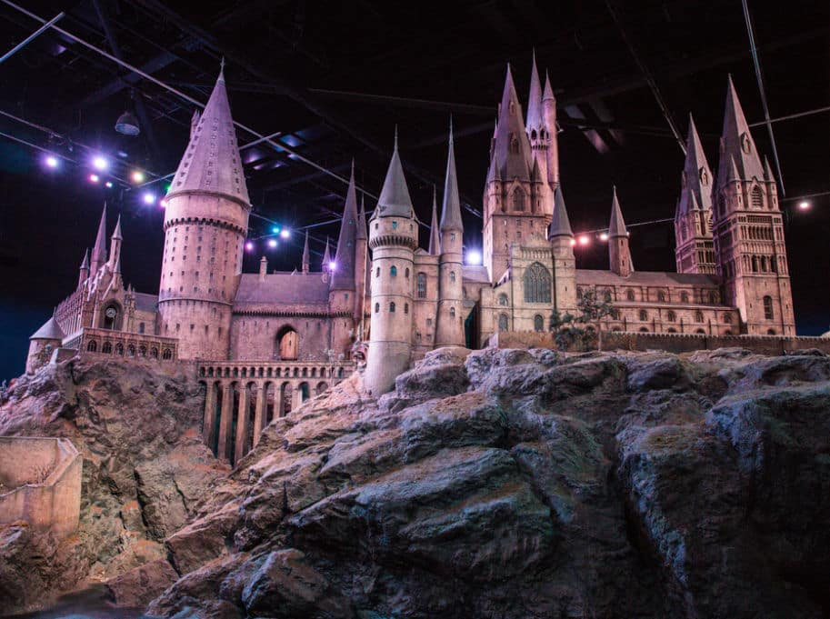 modelo de hogwarts harry potter estudio tour londres