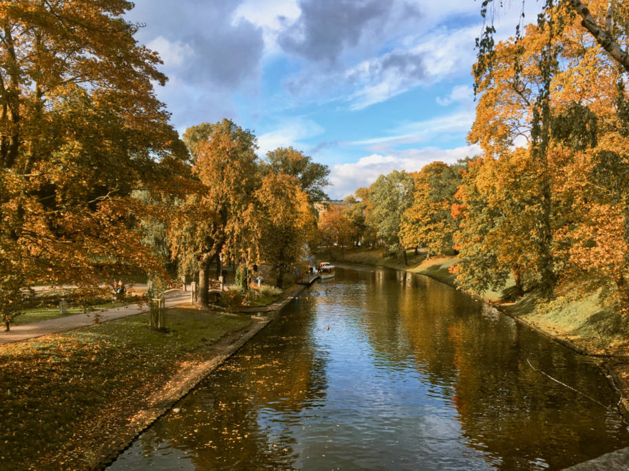 outono em riga letonia