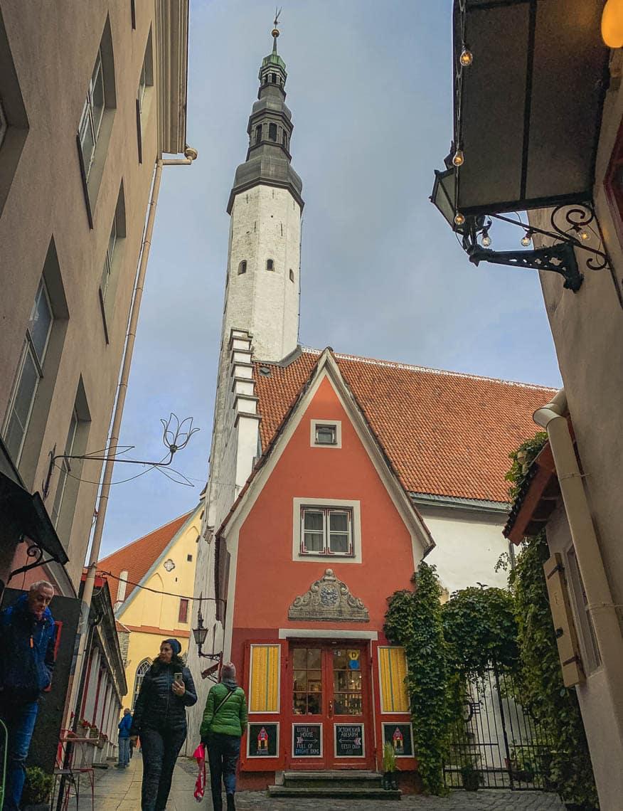 detalhes do centro histórico de tallinn estonia
