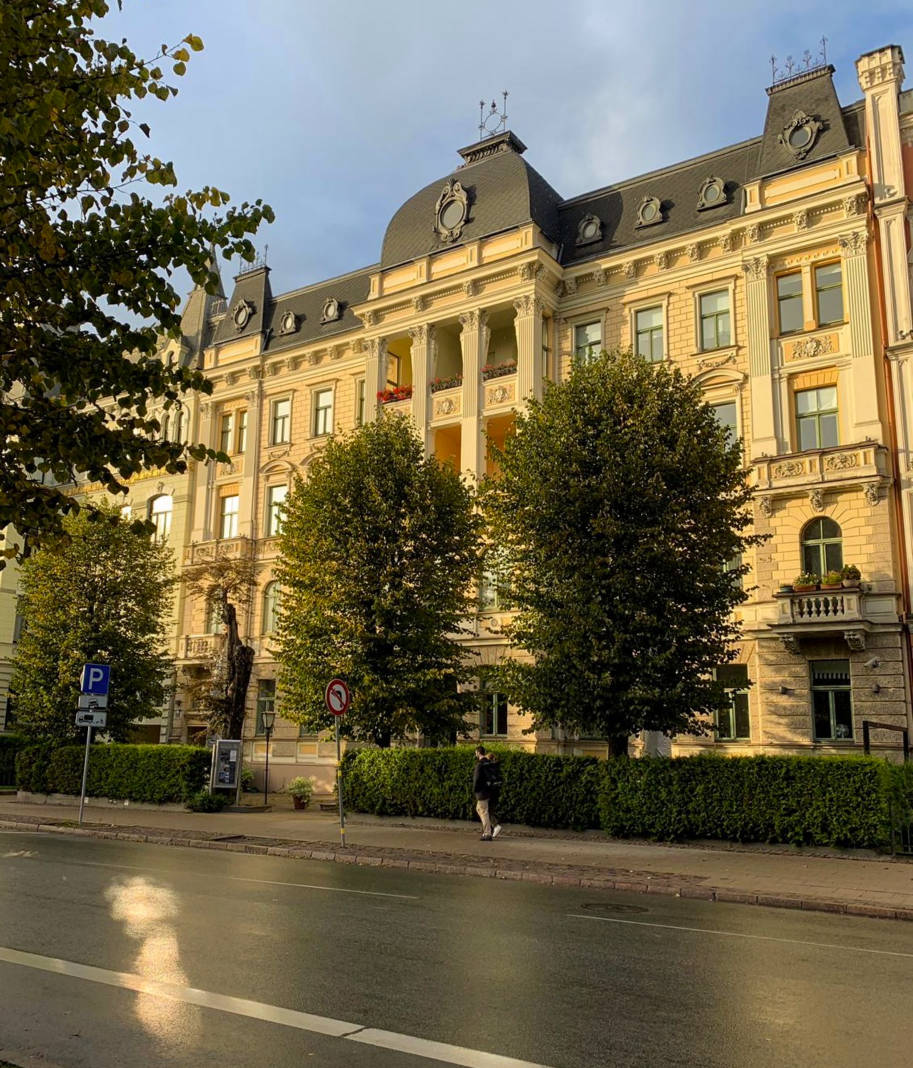 distrito de art nouveau em riga letonia