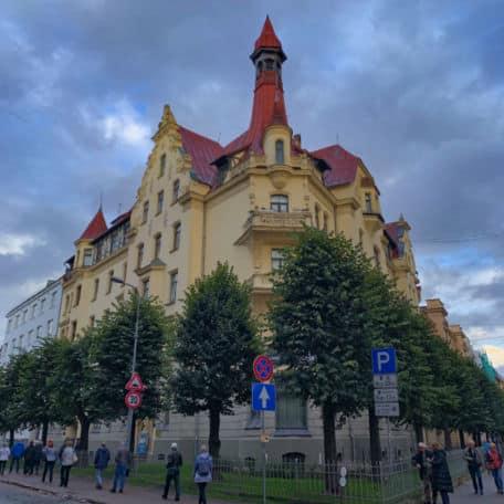 museu distrito de art nouveau em riga letonia