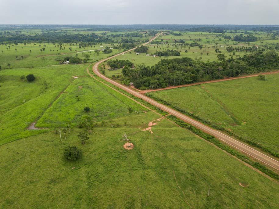 vista aérea de um geoglifo no acre
