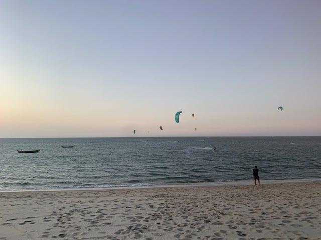 mar fim de tarde kitesurf barra grande piaui