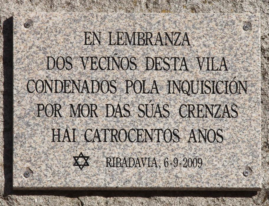 placa vila espanha condenados inquisicao