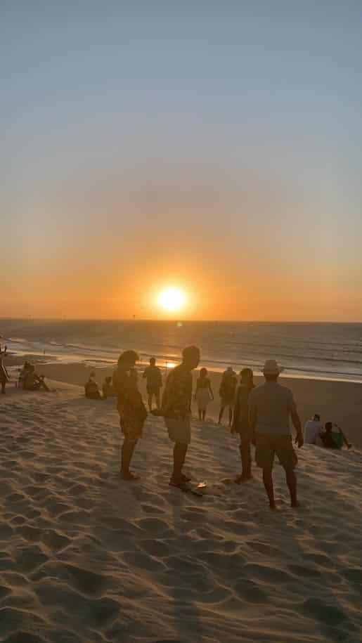 por do sol nas dunas de jericoacora praia mar