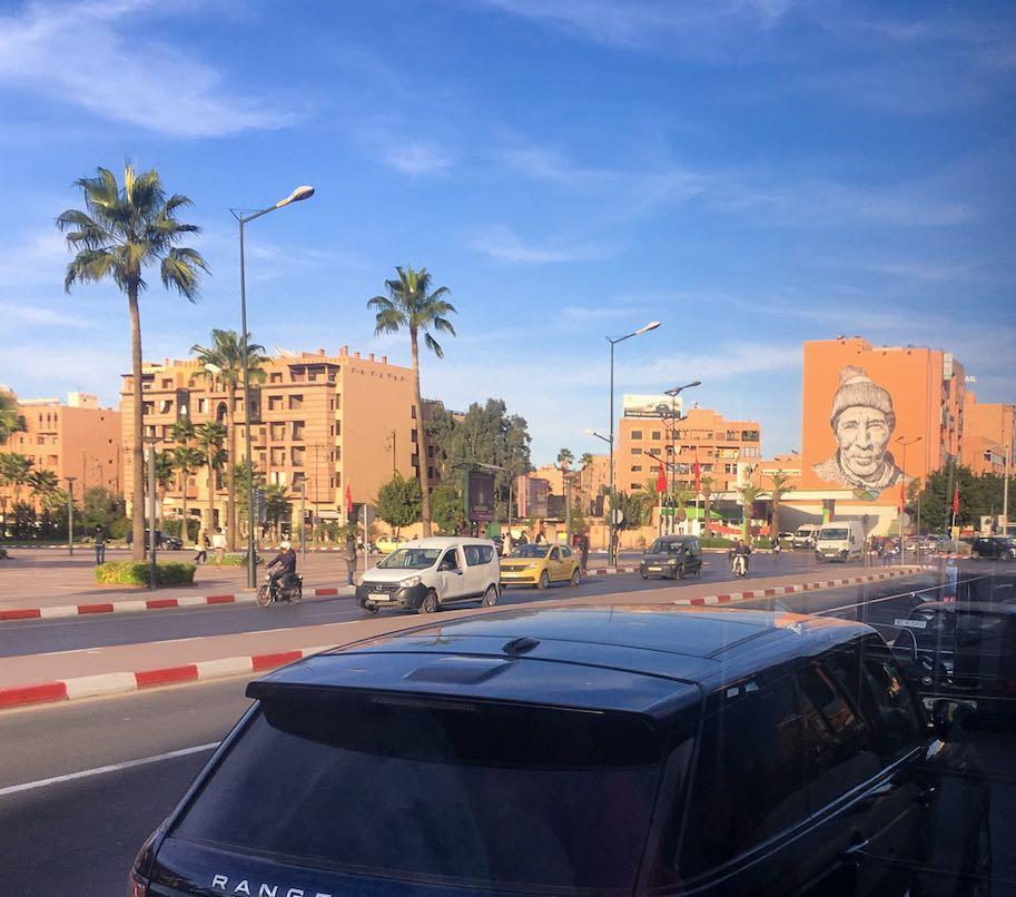bairro gueliz em marrakech marrocos