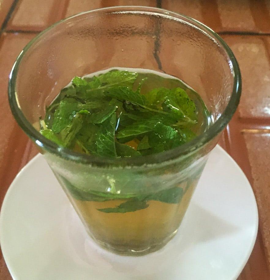 chá de hortela no marrocos