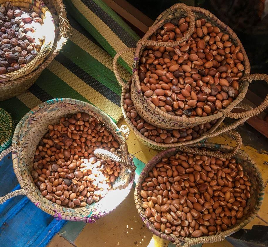 fruto amendoa oleo de argan marrocos