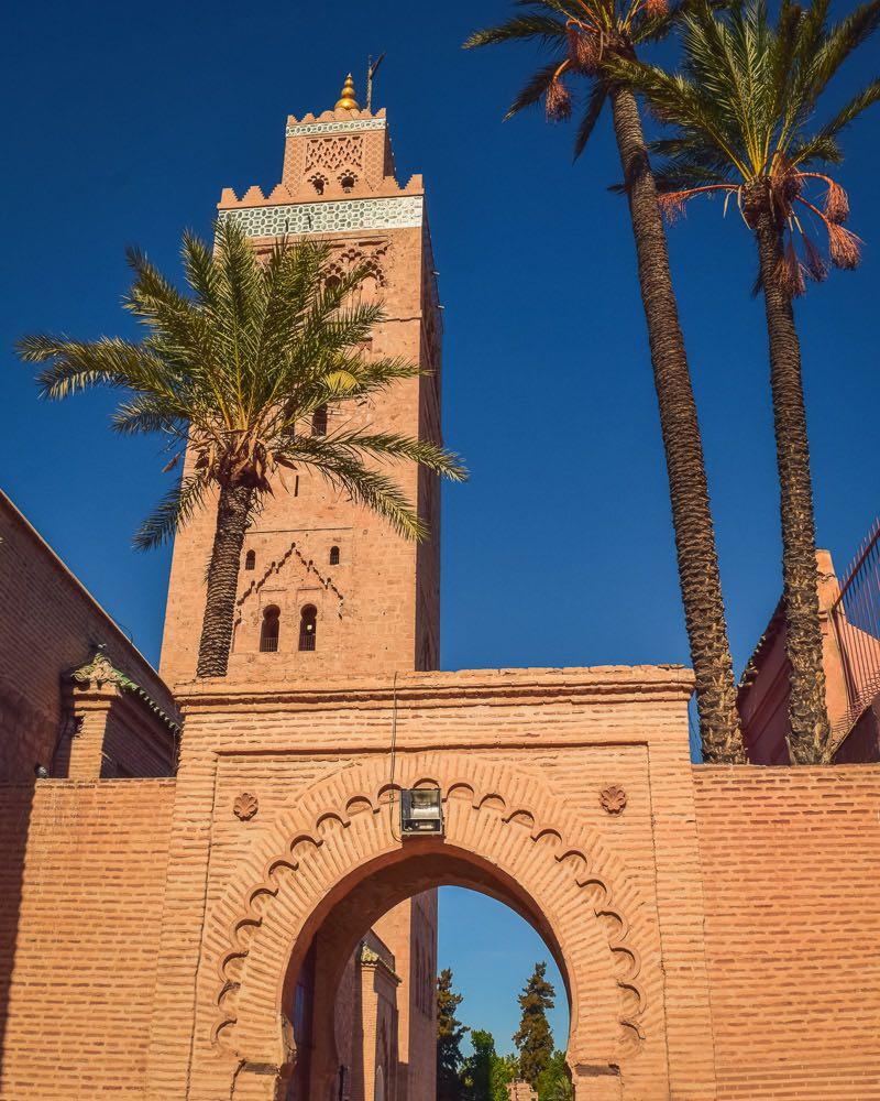 mesquita cutobia em marrakech marrocos pontos turisticos