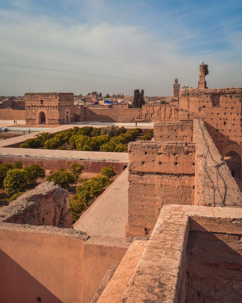 ruinas marraquexe cidade imperial marrocos