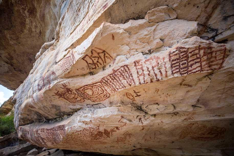 desenho rupestre no vale do catimbau