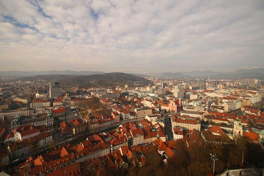 vista de liubliana, capital da eslovênia