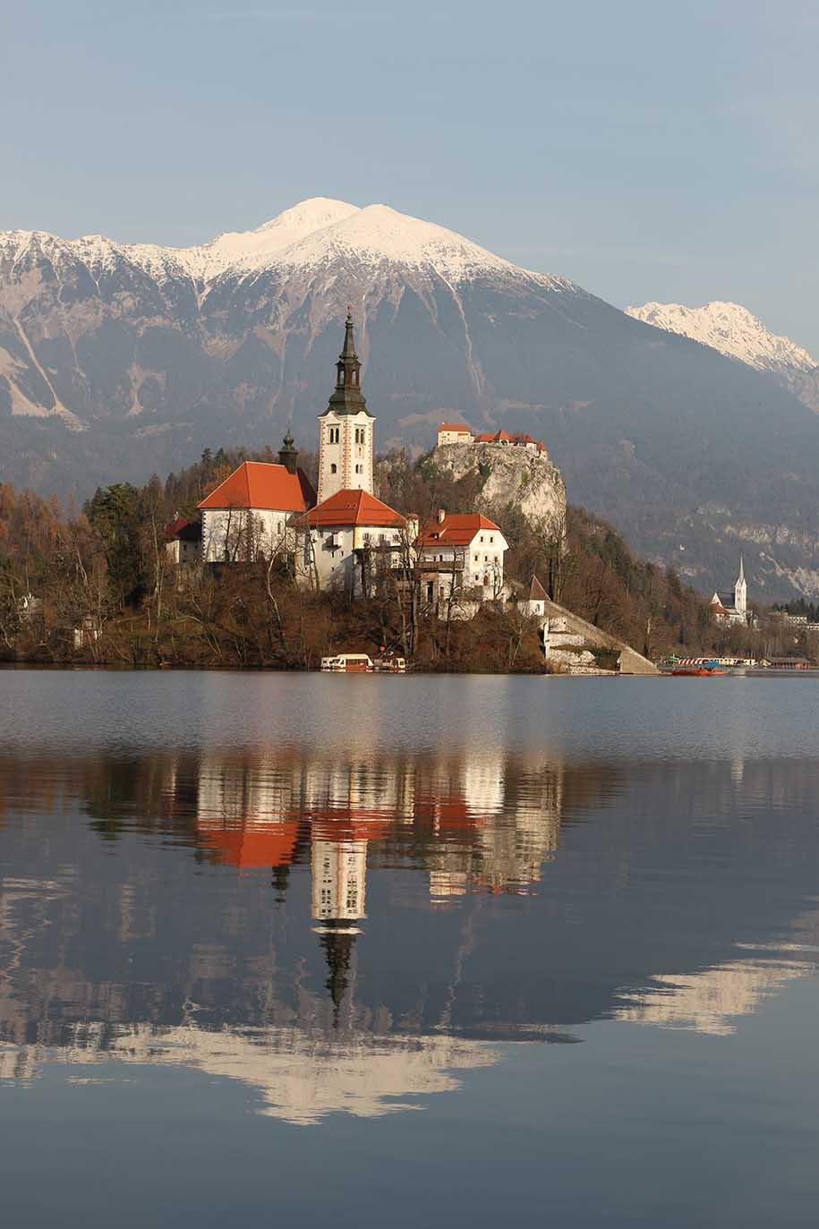 bled, parada em roteiro de carro pela eslovênia
