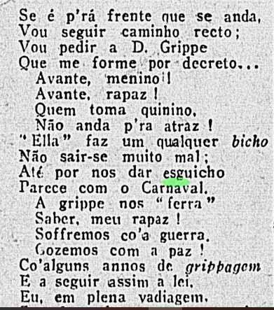 bloco dos gripistas carnaval 1919