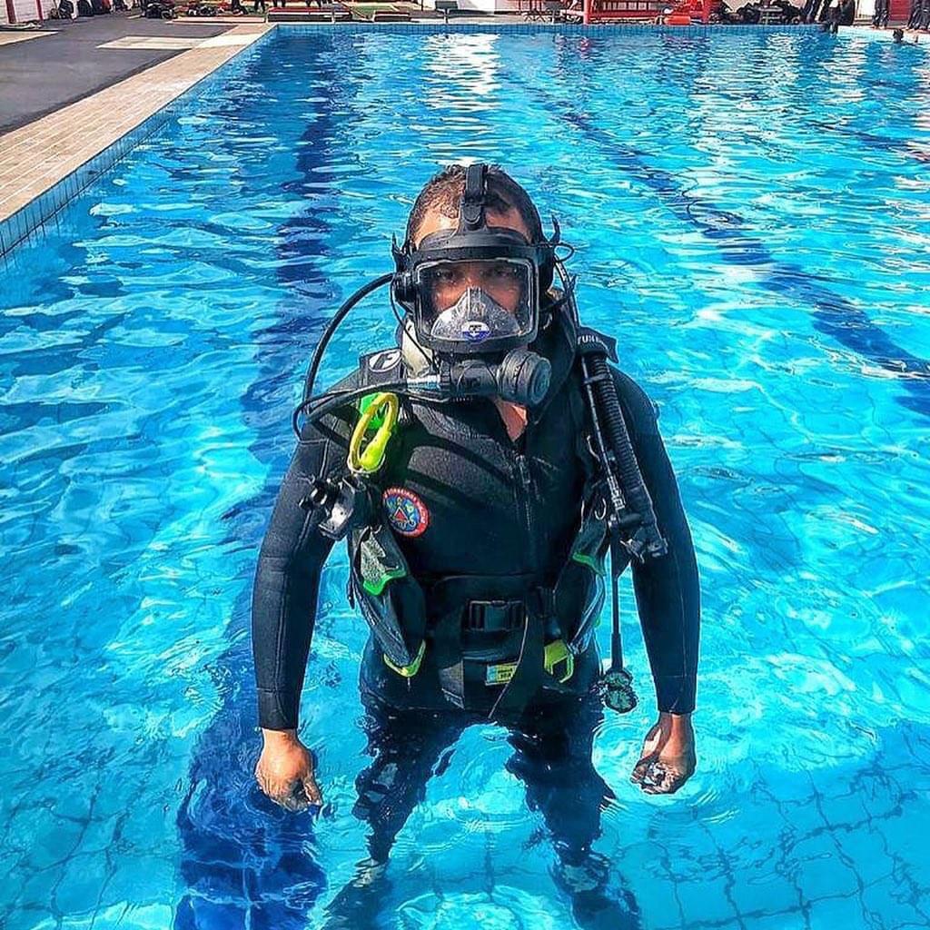 soldado geraldo bombeiro coronavirus treinamento piscina