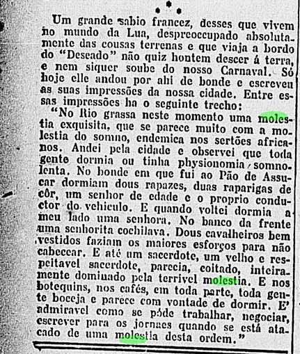 ressaca carnaval 1919