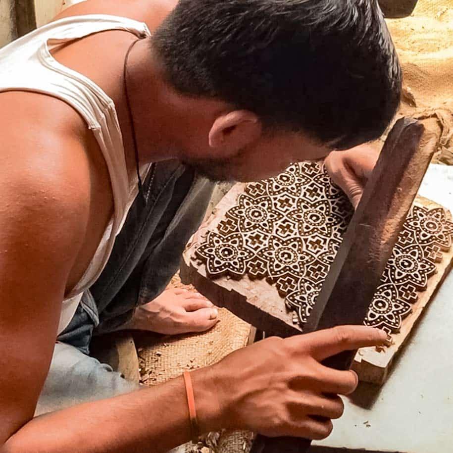 artesão indiano estamparia