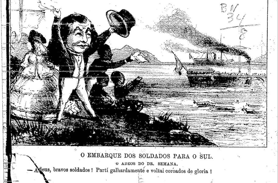semana ilustrada 1865 1 de janeiro embarque de soldados